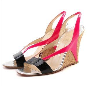 Christian Louboutin Yamine Cork Wedges Shoes